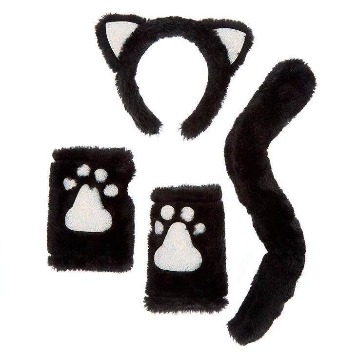 Lot De 3 Accessoires De Deguisement De Chat Noir En Fausse Fourrure