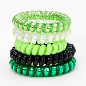 St. Patrick's Day Coil Bracelets - Green, 5 Pack,