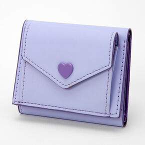 Heart Trifold Wallet - Lavender,