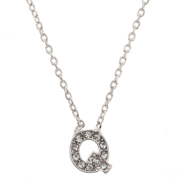 Claire's - studded q initial necklace - 1
