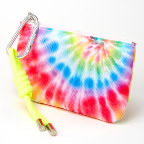 Neon Rainbow Tie Dye Spiral Coin Purse,
