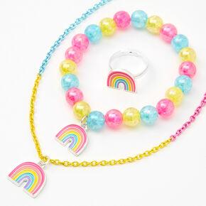 Claire's Club Rainbow Jewelry Set - 3 Pack,