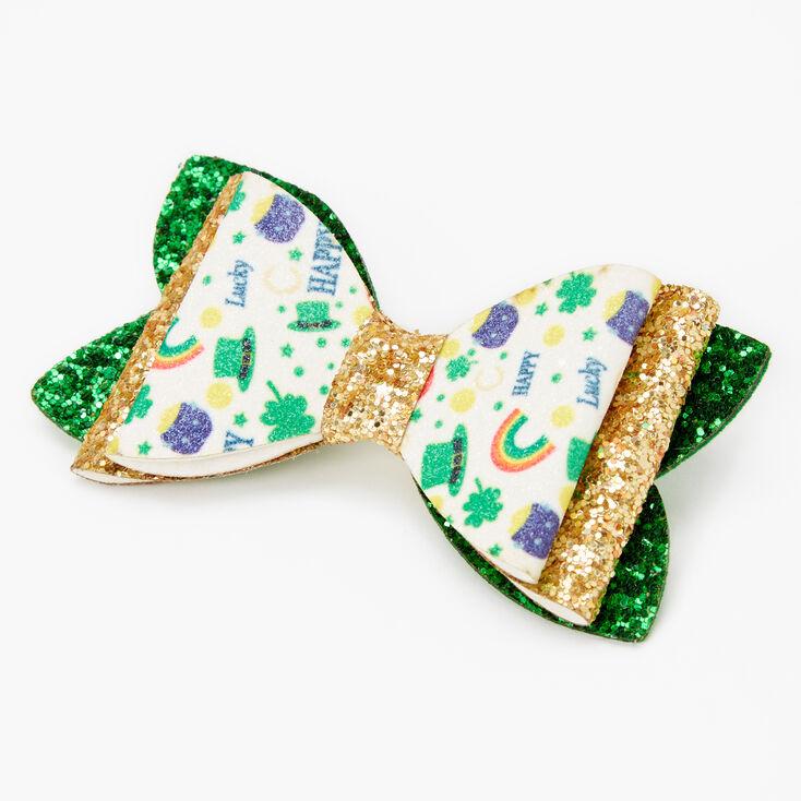 Barrette à nœud clinquante Saint-Patrick — Couleur dorée,