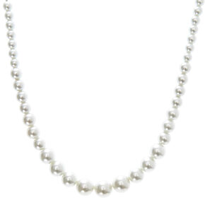 Graduated Faux Pearl Necklace,