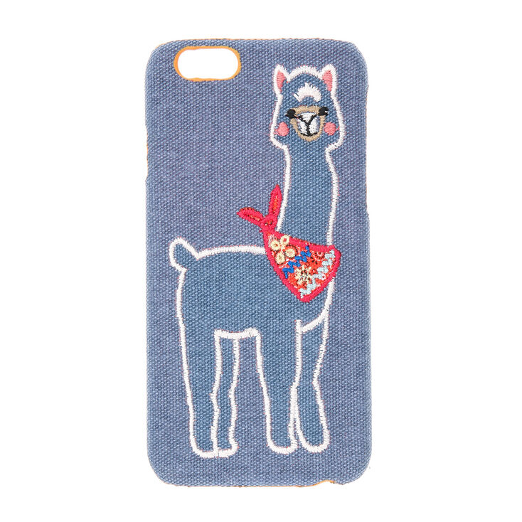 new style 77694 68ee8 Blue Fabric Llama Phone Case - Fits iPhone 6/6S