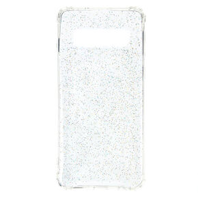 Clear Holographic Glitter Protective Phone Case - Fits Samsung Galaxy S10,