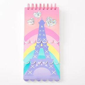 Rainbow Eiffel Tower Layered Notebook,