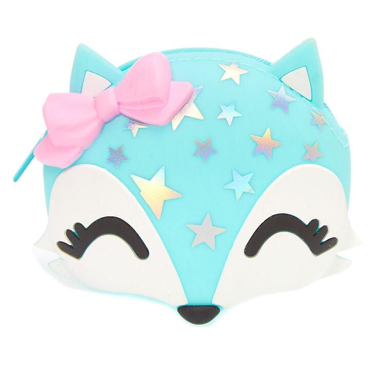 Trixie the Fox Jelly Coin Purse - Mint,