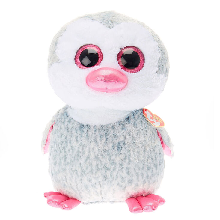 Ty Beanie Boo Large Olive The Penguin Plush Toy Claire S Us