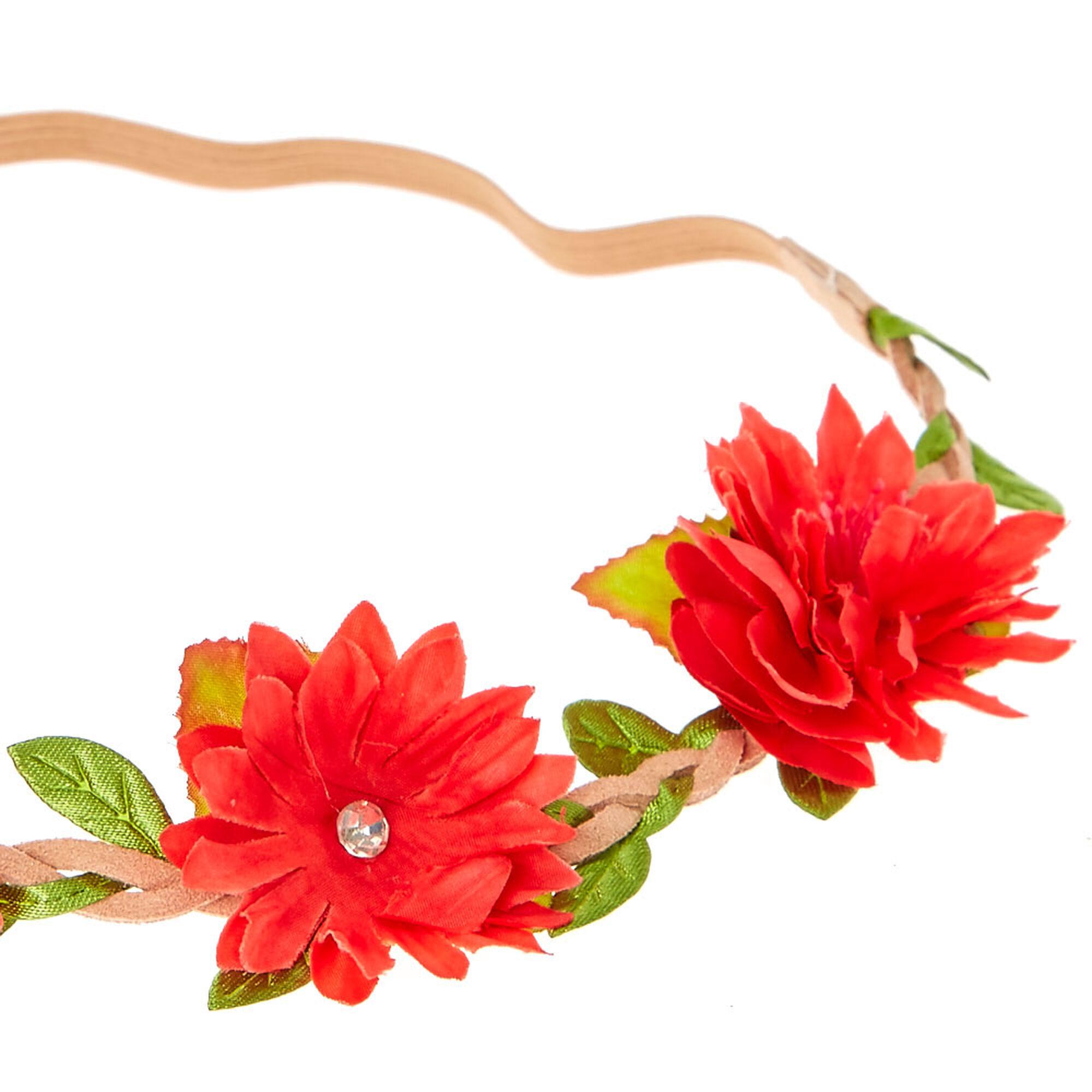 Red daisy flower headwrap claires red daisy flower headwrap izmirmasajfo