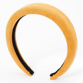 Cord Puff Headband - Mustard,