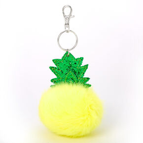 Plush Pom Pineapple Keychain - Yellow,