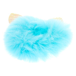 Medium Faux Fur Cat Ears Hair Scrunchie - Mint,