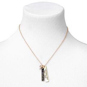 Collier à pendentif zodiaque rectangulaire couleur dorée - Bélier,