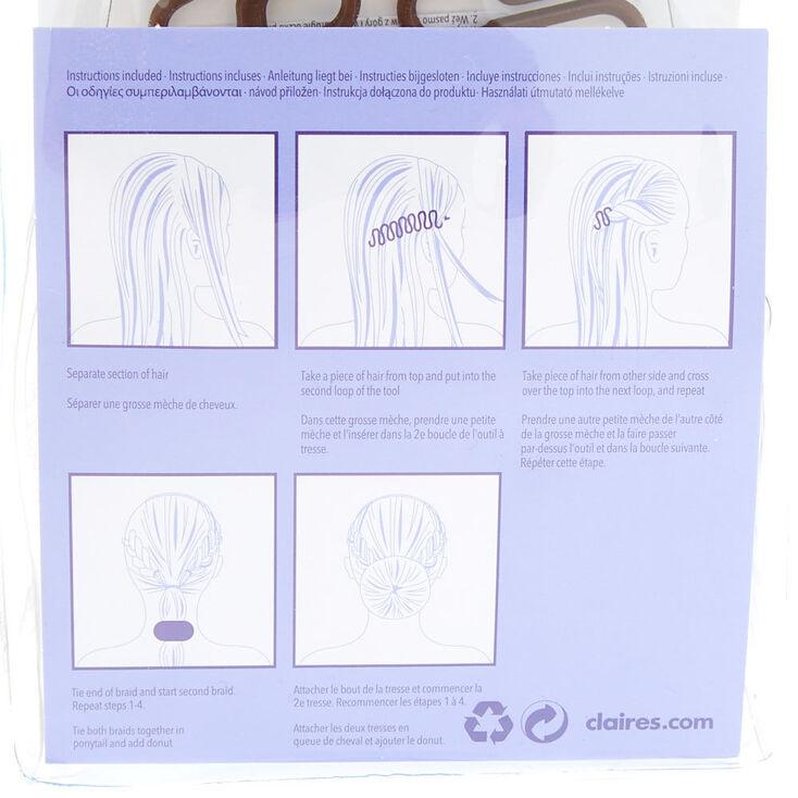 Kit d'accessoires pour chignons tressés,