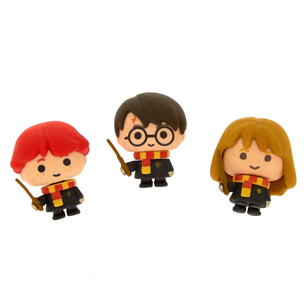 Multi Harry Potter Eraser Set One Size Pack Of 4