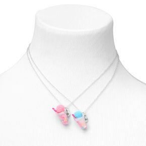 Best Friends Pom Pom Slushie Pendant Necklaces - 2 Pack,