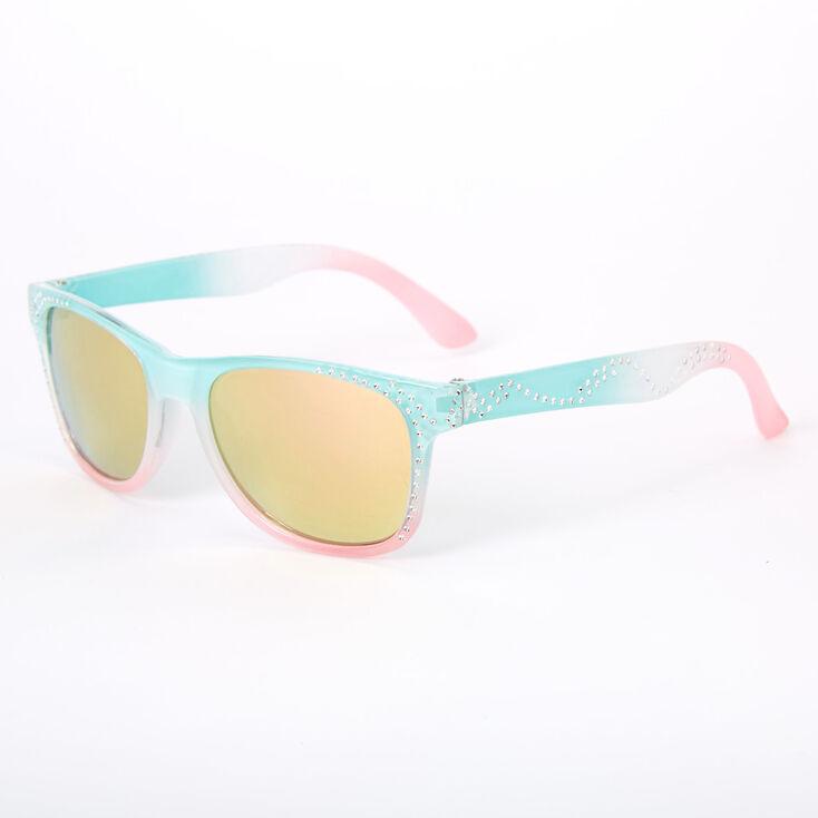 Claire's Club Pastel Ombre Retro Sunglasses,