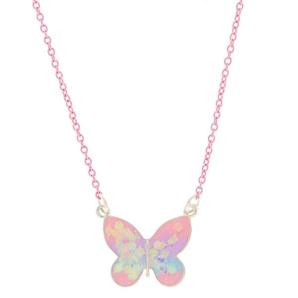 Claire's - pastel butterfly pendant necklace - 1