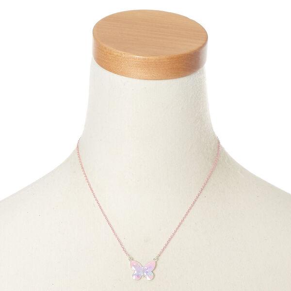 Claire's - pastel butterfly pendant necklace - 2