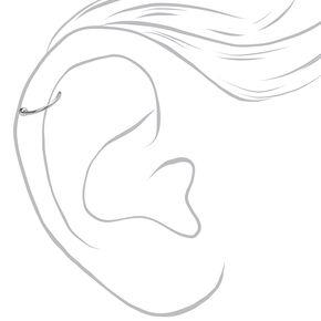 Silver 16G & 20G Fireball Flower Tragus Earrings - 3 Pack,