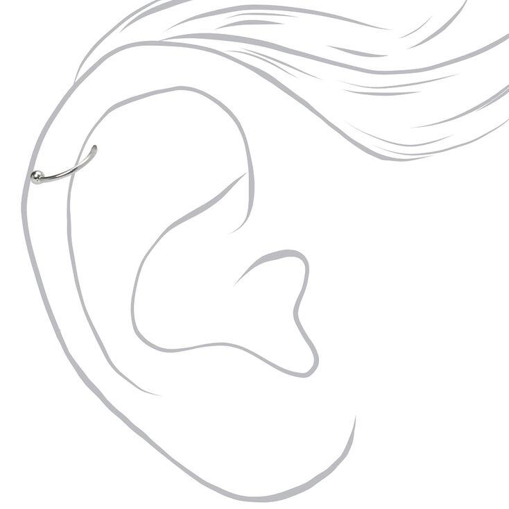 Boucles d'oreilles tragus fleur boule de feu 1,3mm et 0,8mm couleur argentée - Lot de 3,