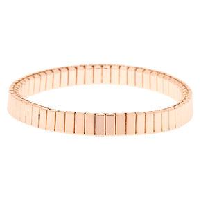 Bracelet élastique à maillons couleur doré rose,