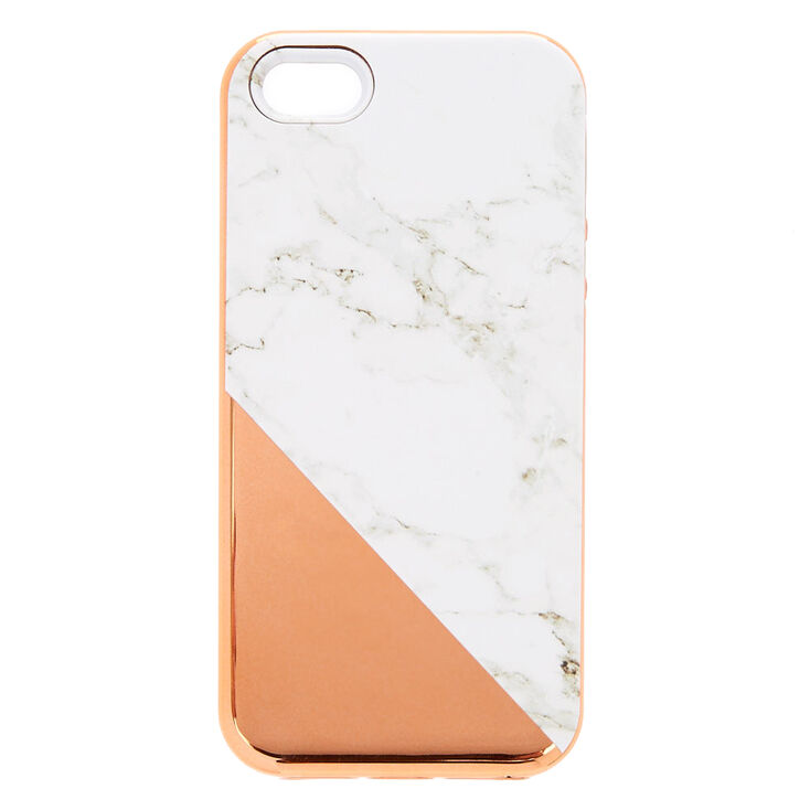 best loved de2b0 c64ba Rose Gold Marble Protective Phone Case - Fits iPhone 6/7/8