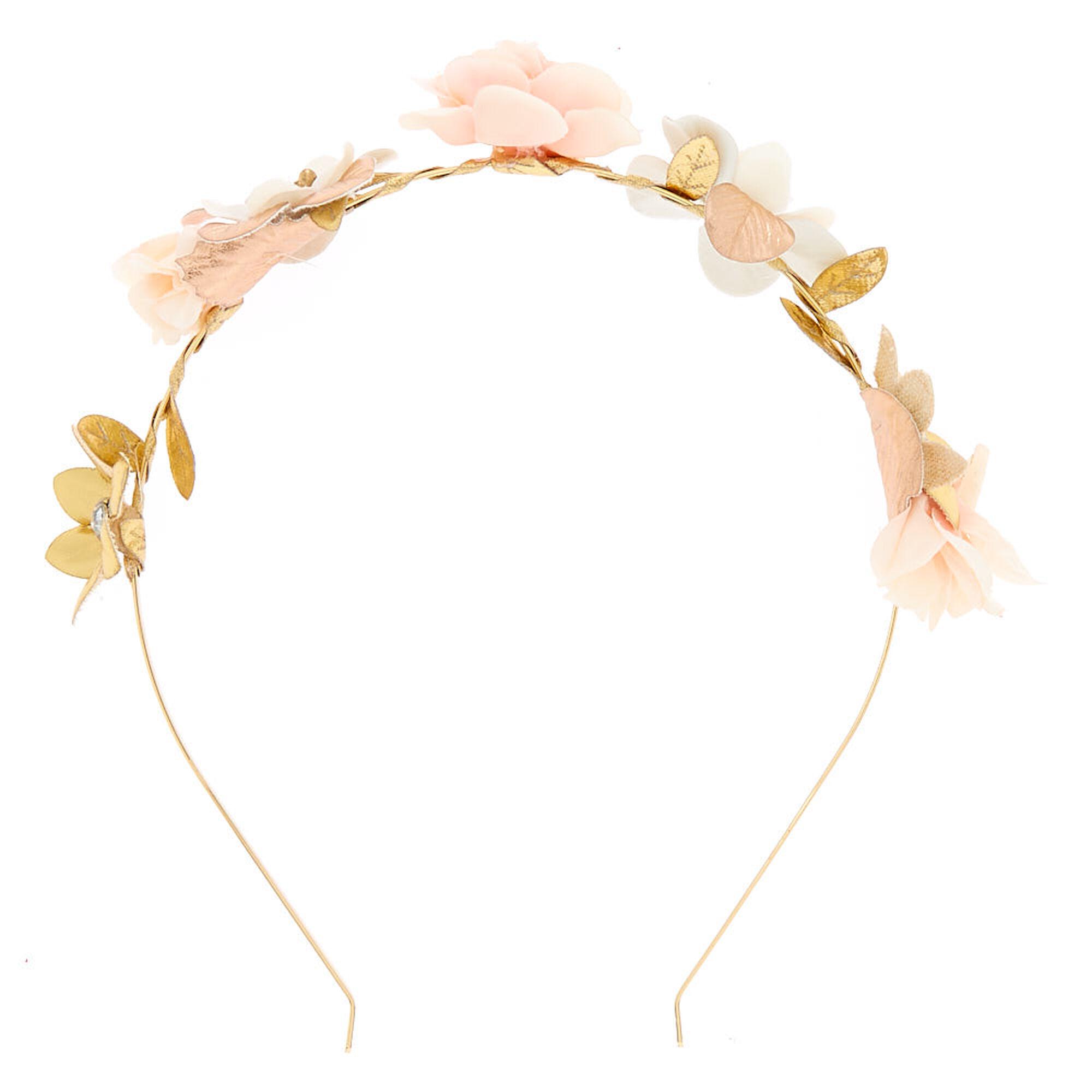 ... Rose Gold Flower Skinny Headband - Blush Pink 56fd1e41ffd