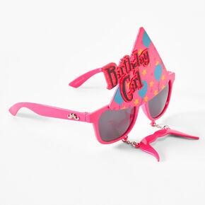 Birthday Girl Mustache Retro Sunglasses - Pink,