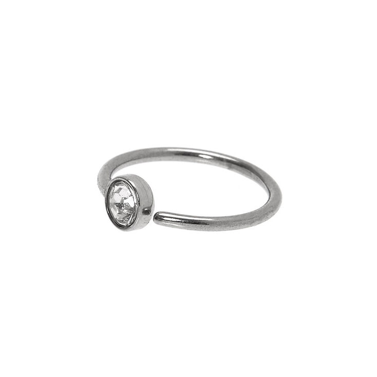 Sivler 20g Stone Hoop Nose Ring Claire S Us