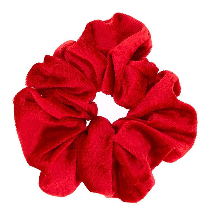 Medium Velvet Hair Scrunchie - Red,