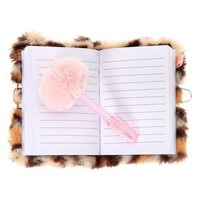 Claire's Club Shakey Leopard Lock Diary,