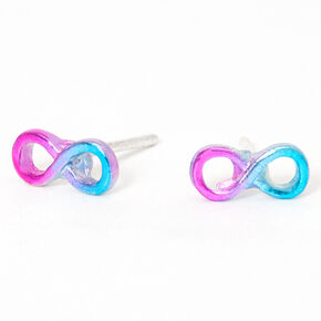Anodized Ombre Infinity Stud Earrings - Purple,
