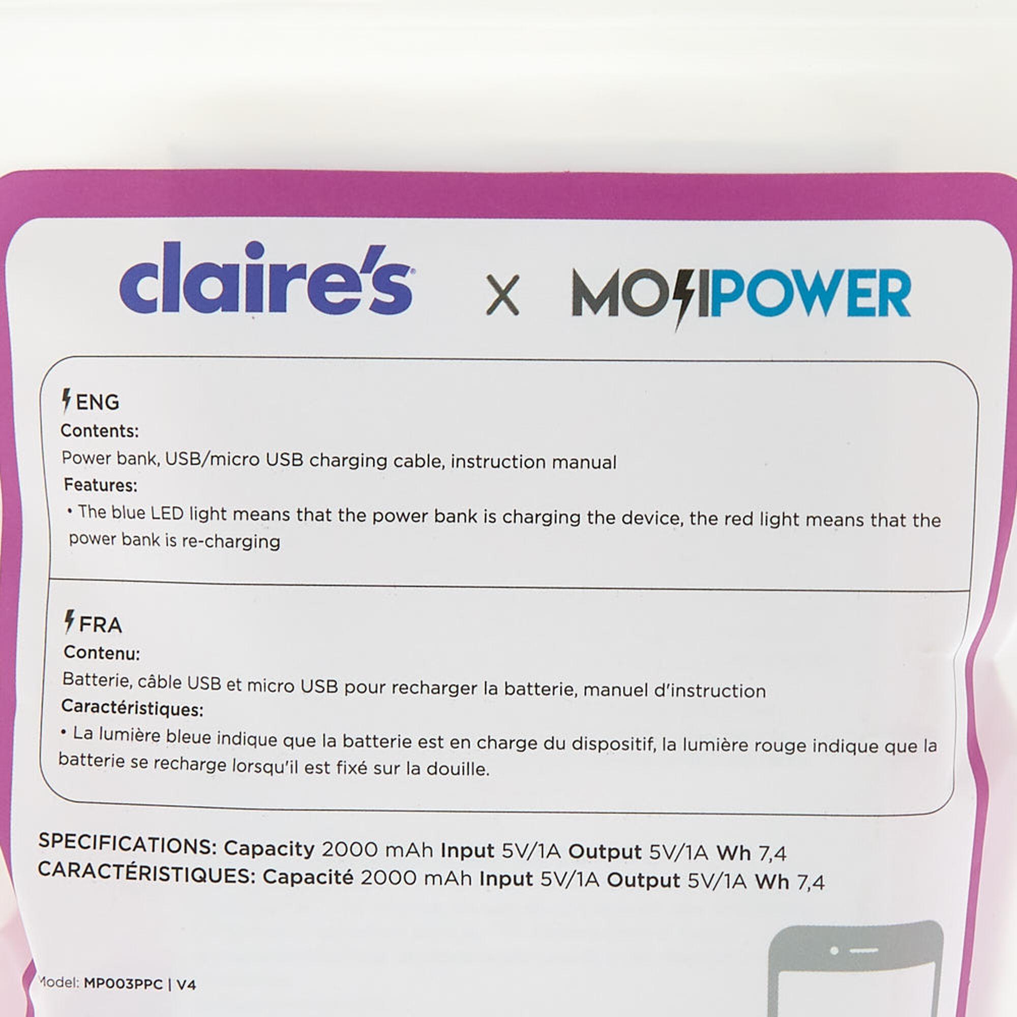 MojiPower® Poo Battery Power Bank - Pink