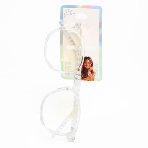Sky Brown™ Checkered Blue Light Reducing Glasses - Clear,
