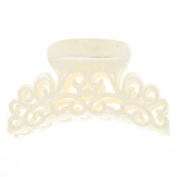 Claire's - iridescent shine filigree hair claw - 2