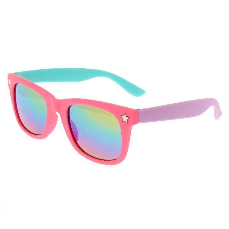 Claire's Club Three Tone Mirrored Sunglasses,