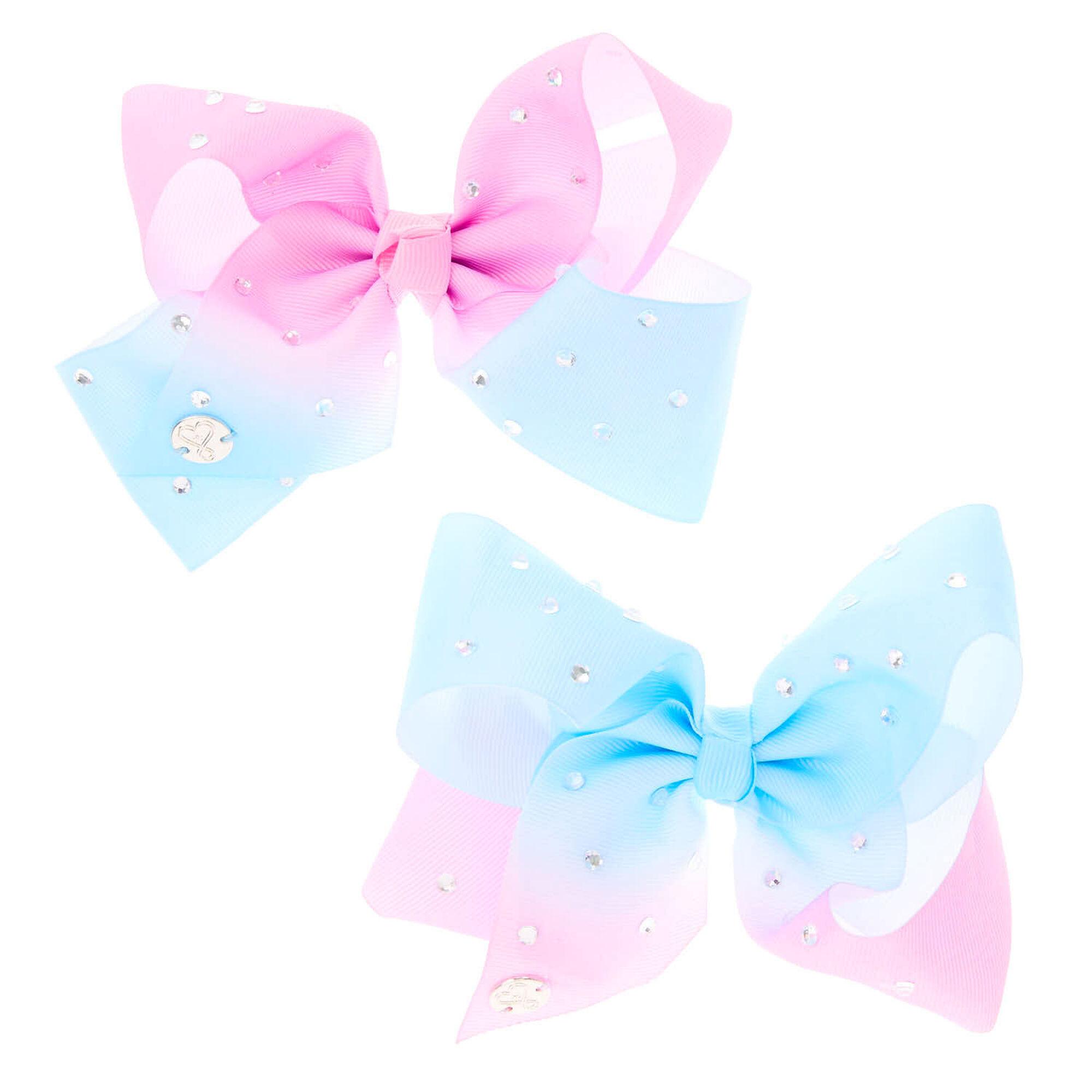 jojo siwa u2122 small pink  u0026 blue ombre rhinestone bestie hair bows