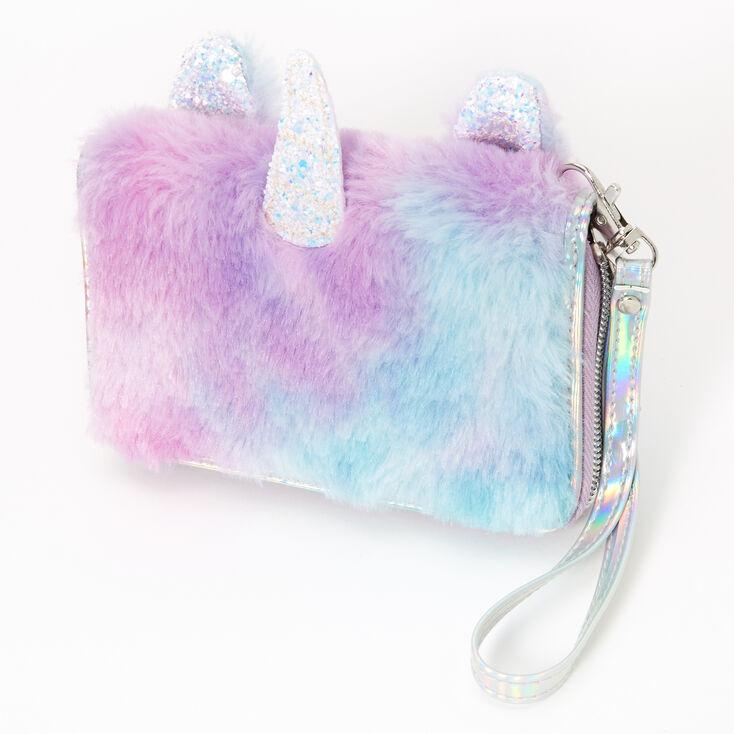 Furry Pastel Unicorn Wristlet,
