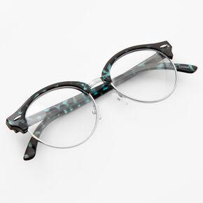 Tortoiseshell Browline Clear Lens Frames - Bue,