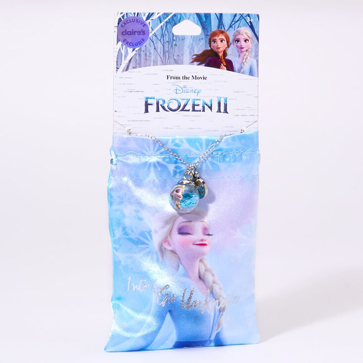 ©Disney Frozen 2 Into the Unknown Necklace and Gift Pouch – Blue,
