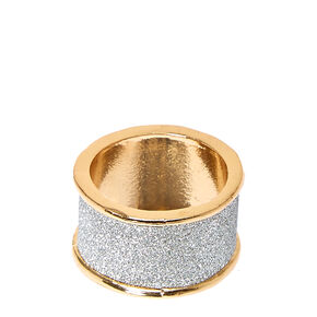 Silver Glitter Tape Band Ring,