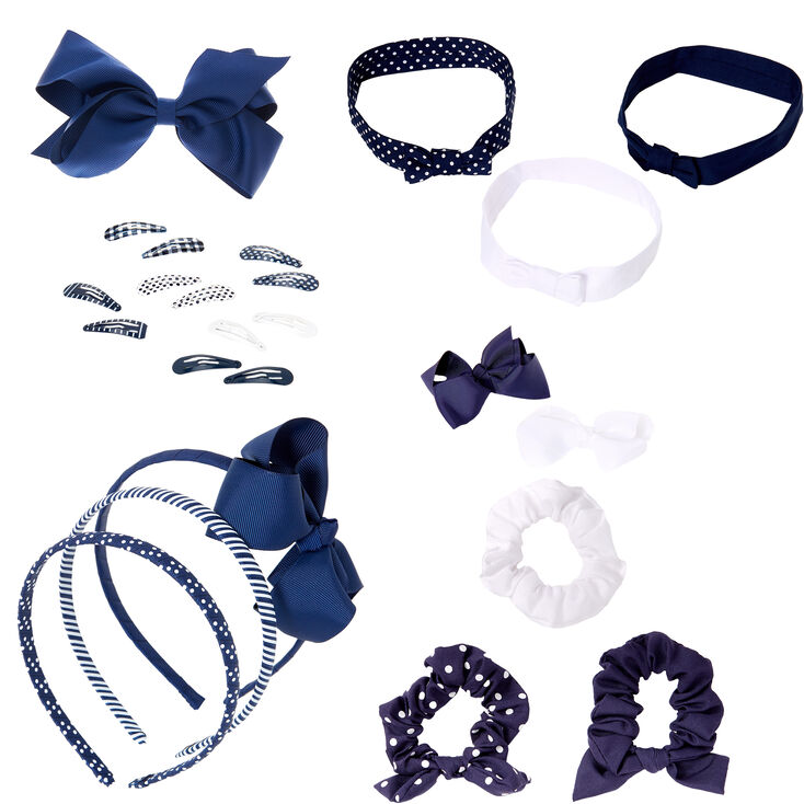 Claire's Club Blue & White,