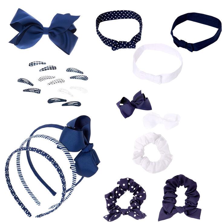 Claire's Club Blue & White,