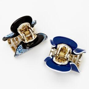 Mosaic Mini Hair Claws - Blue, 2 Pack,