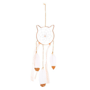 Mini Cat Dreamcatcher - Rose Gold,