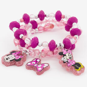 ©Disney Minnie Mouse Beaded Stretch Bracelets – 3 Pack,