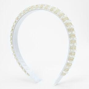 Samantha Beaded Headband - White,