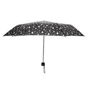 Parapluie noir motif gouttes de pluie,